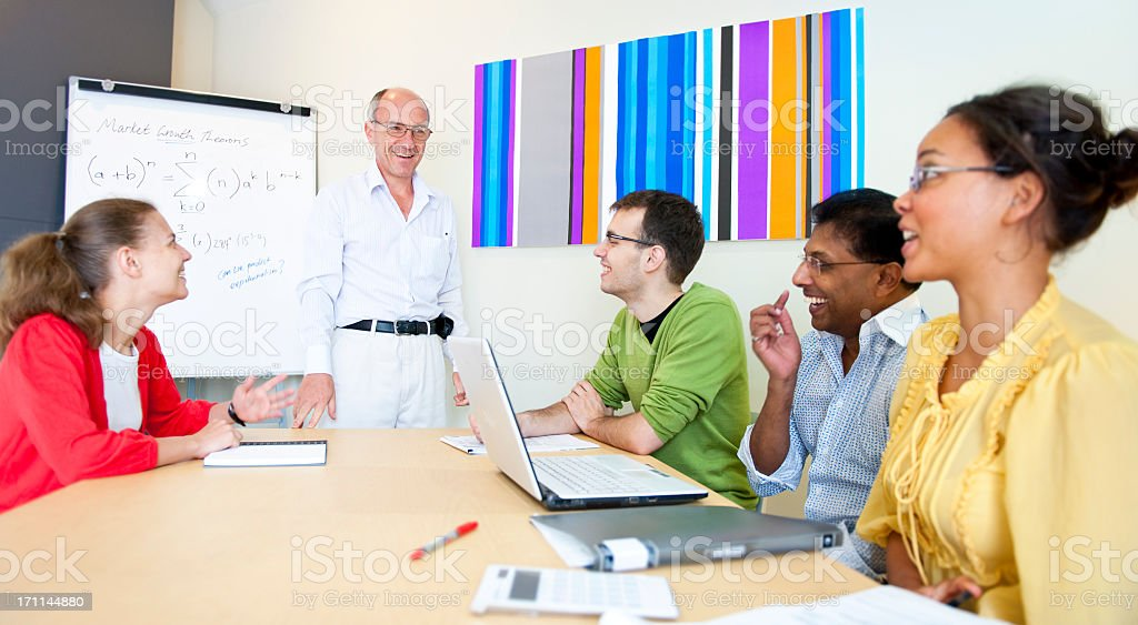 Happy Discussion royalty-free stock photo