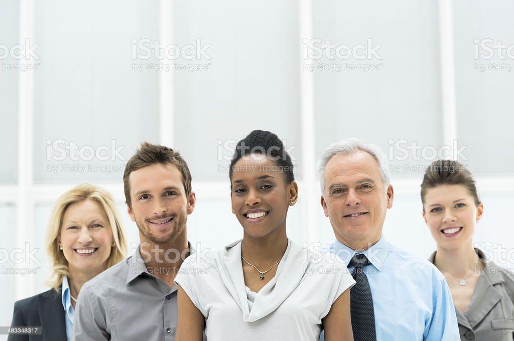 Happy Diverse Business Group royalty-free stock photo