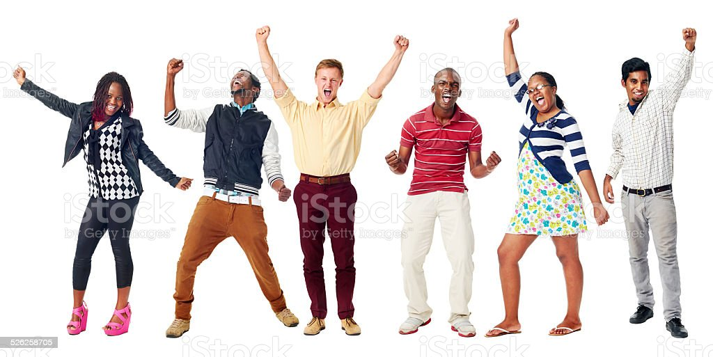 happy diverse people stock photo