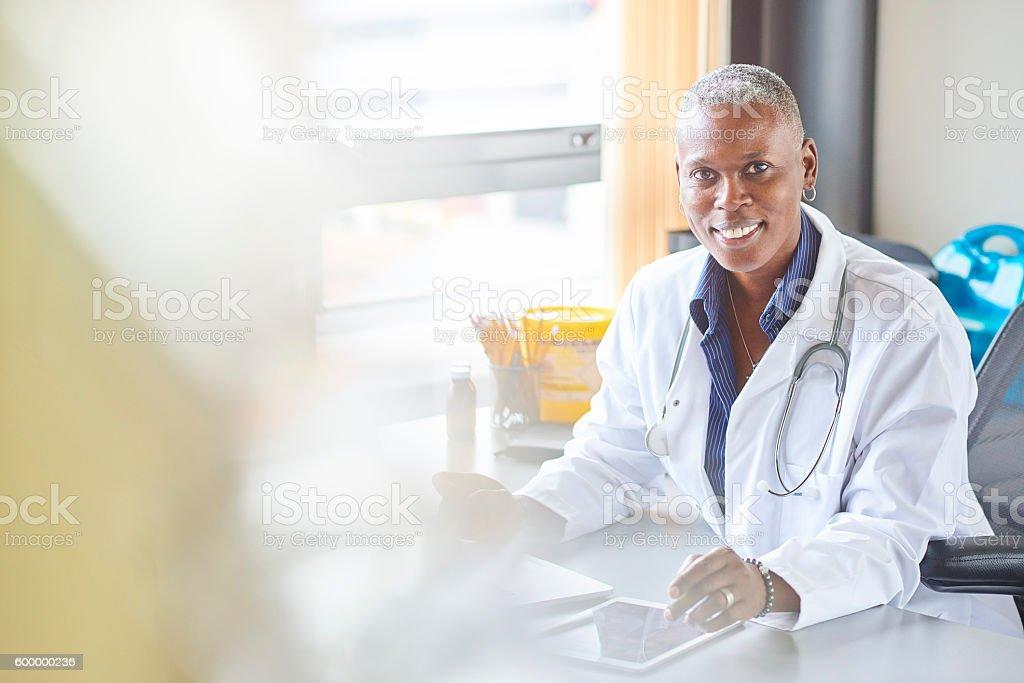 happy doctor stock photo