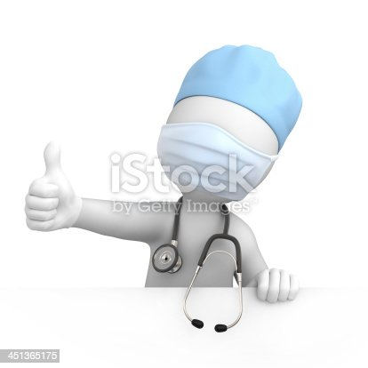 istock Happy doctor with thumb up 451365175