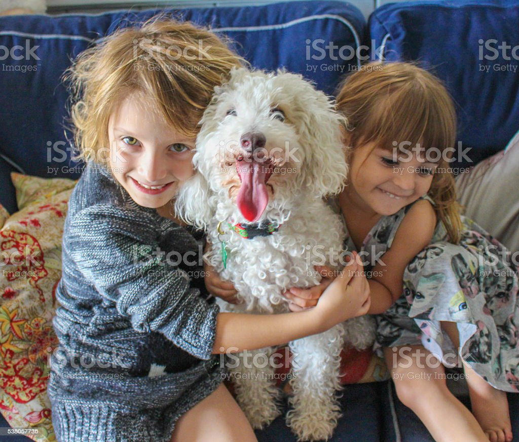 Happy Dog Owners stock photo