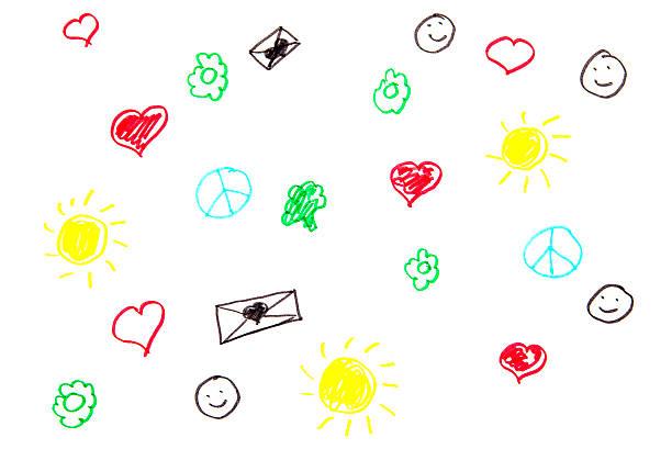 happy doodles seamless pattern - animal doodle bildbanksfoton och bilder
