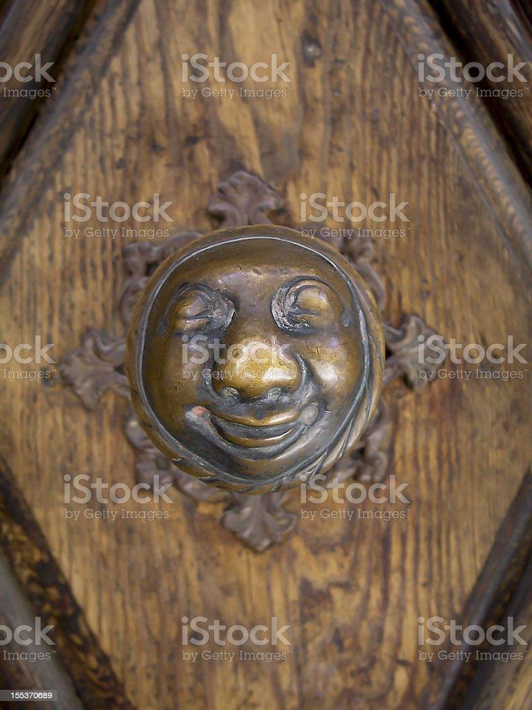Happy Doorknob royalty-free stock photo
