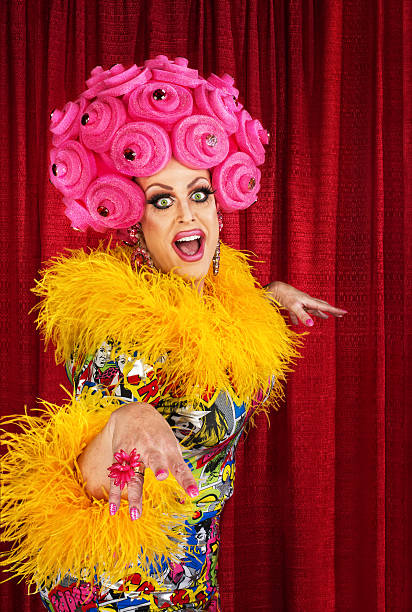 happy drag queen - transvestite stock photos and pictures