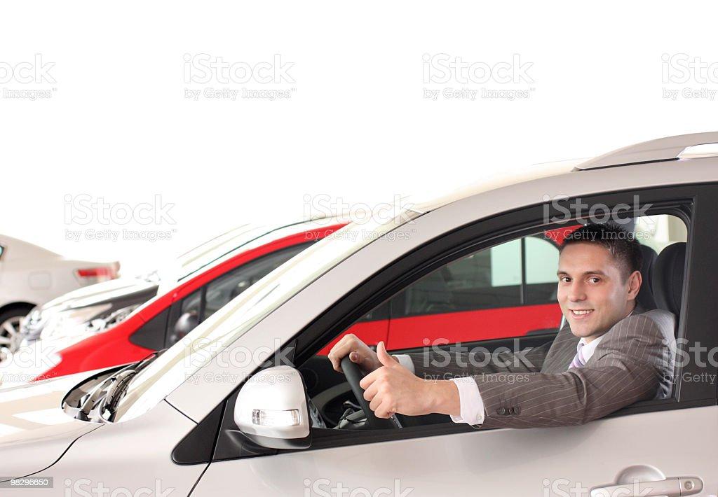 Felice driver foto stock royalty-free
