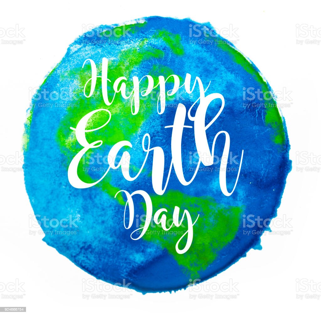 Happy Earth Day stock photo
