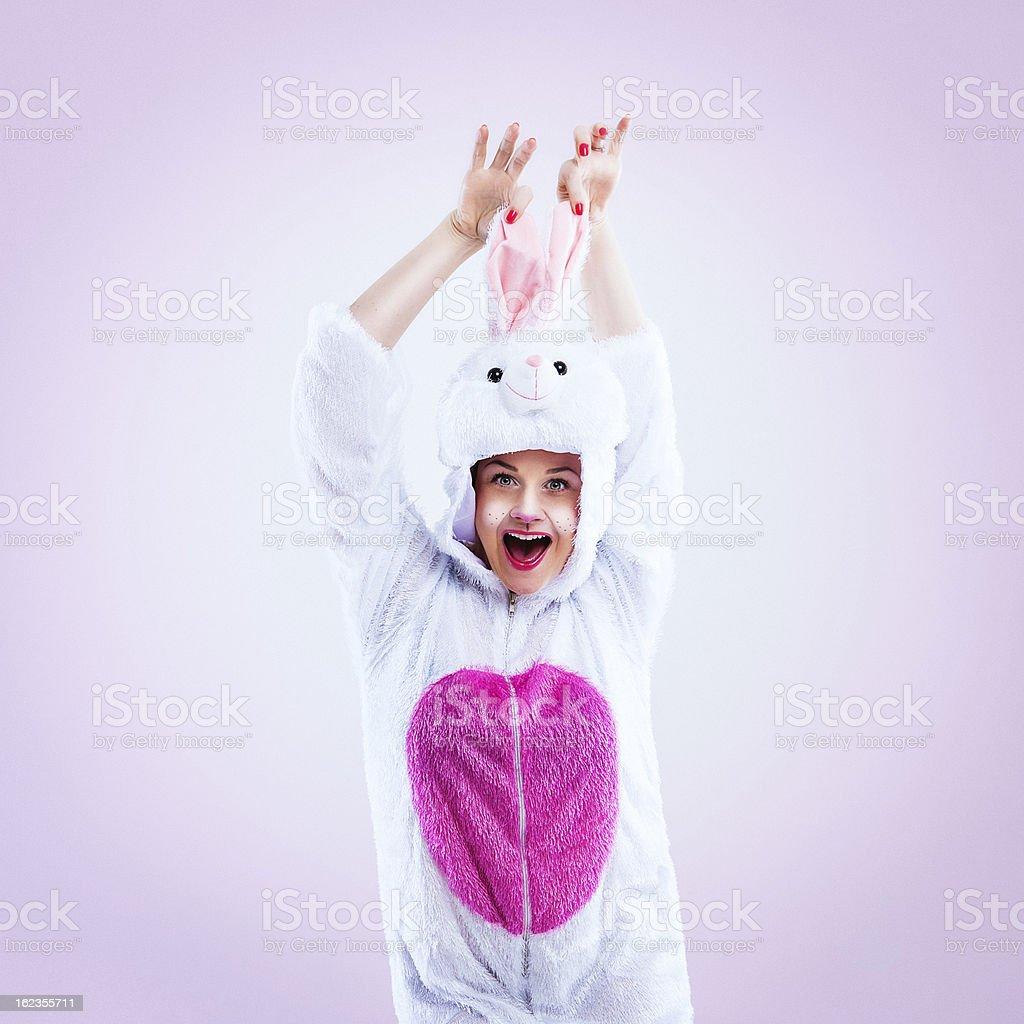 Happy easter bunny royalty-free stock photo