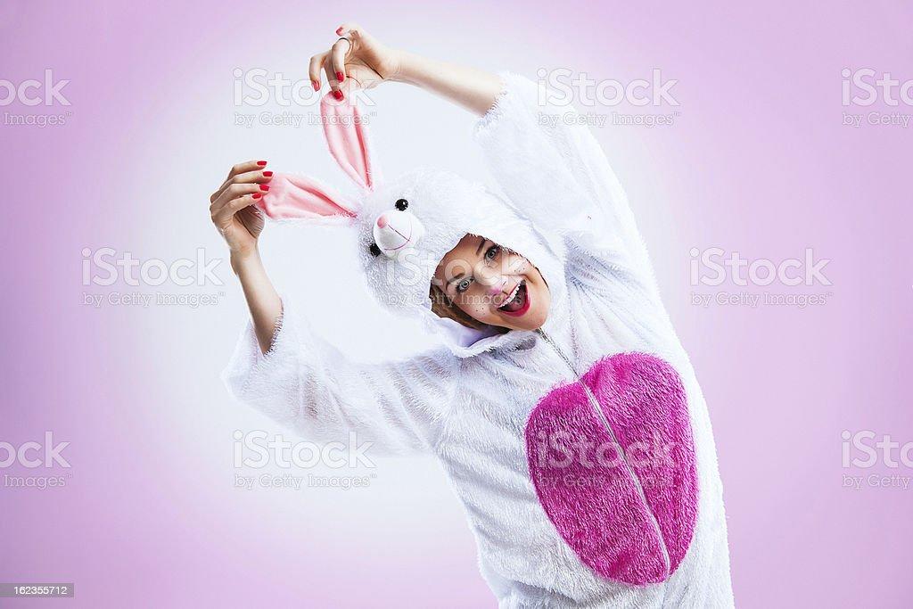 Happy easter bunny stock photo