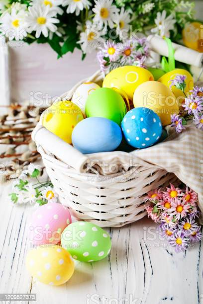 Happy easter congratulatory easter background easter eggs and flowers picture id1209827373?b=1&k=6&m=1209827373&s=612x612&h=rlkp2p3n1g9d7s bekvid4gqomlcjrhvtfgkowffxqq=