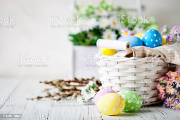 Happy easter congratulatory easter background easter eggs and flowers picture id1209827563?b=1&k=6&m=1209827563&s=612x612&h=axpalajgu1x3hosgyld bn2li937qme7 xkshj3o6iu=