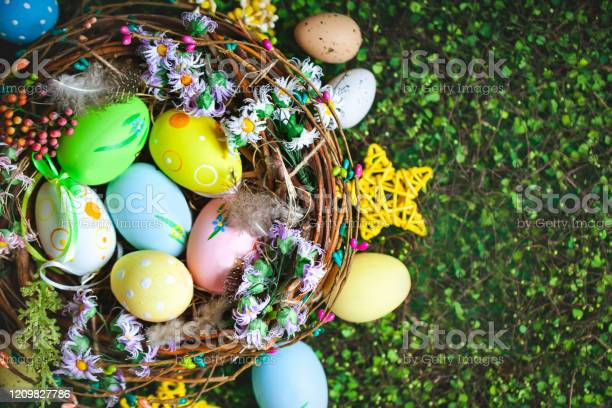 Happy easter congratulatory easter background easter eggs and flowers picture id1209827786?b=1&k=6&m=1209827786&s=612x612&h=2na zbefe0bz 6h1fw4h5pc6nbyhk7m8f1 wrsb2sus=