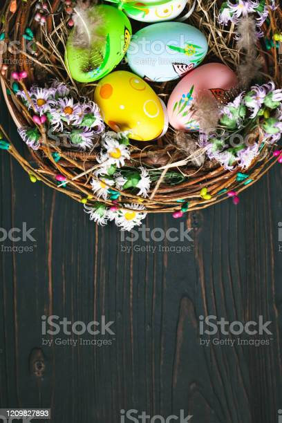 Happy easter congratulatory easter background easter eggs and flowers picture id1209827893?b=1&k=6&m=1209827893&s=612x612&h=8lgcf9 nwpj5lqnammj 749 t bje6ru1i3days4j2o=