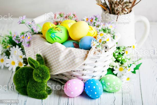 Happy easter congratulatory easter background easter eggs and flowers picture id1209828370?b=1&k=6&m=1209828370&s=612x612&h= iyw9f1 jmyias6bx0xuj1rfbluklfcnpamf 7wwl6s=