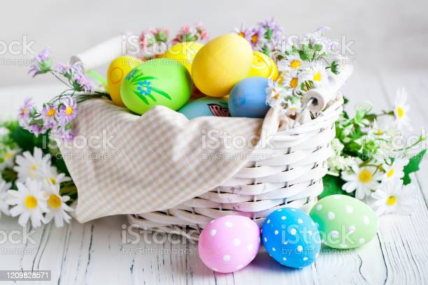 Happy easter congratulatory easter background easter eggs and flowers picture id1209828571?b=1&k=6&m=1209828571&s=612x612&h=6t6mwajxcmpsdzkwagroimfrulseqjocrxpzluolbic=