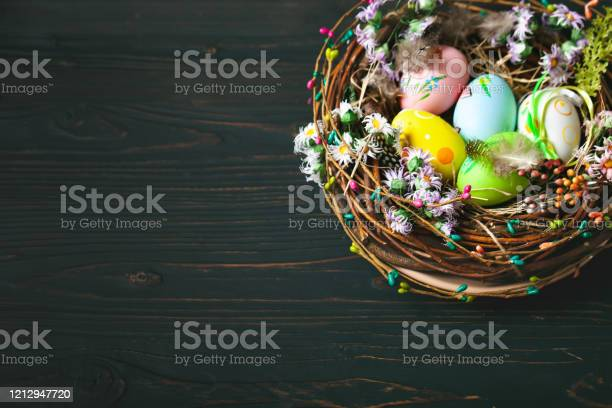 Happy easter congratulatory easter background easter eggs and flowers picture id1212947720?b=1&k=6&m=1212947720&s=612x612&h=p1tdac2ids hgm8vp5wt3sftp4fhybvfub3ijeltan0=
