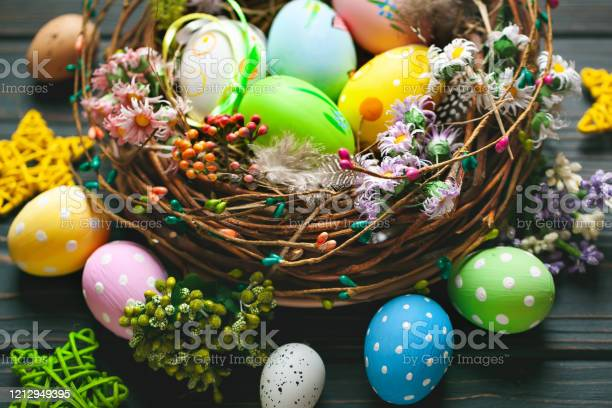 Happy easter congratulatory easter background easter eggs and flowers picture id1212949395?b=1&k=6&m=1212949395&s=612x612&h=94qw9a2 h0tlnnaehtcobmwww ohko3aafy5qbarojc=