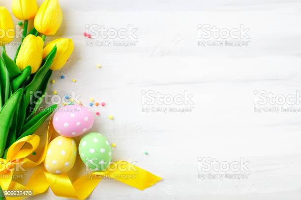 Happy easter congratulatory easter background easter eggs and flowers picture id906632470?b=1&k=6&m=906632470&s=612x612&h=5f0pud93r9ehovoduu9lbspnuraml0kfm8p7hwmvnce=