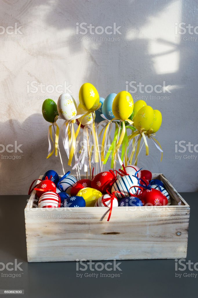 Happy Easter decorations royalty-free stock photo