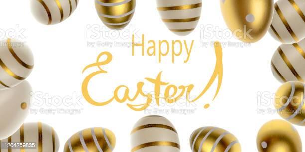 Happy easter eggs white background golden shine decorated eggs in picture id1204259835?b=1&k=6&m=1204259835&s=612x612&h=bb4ua5iswfjhjdbvsrqkzrrud8dbkyw4ifzjv40xth0=