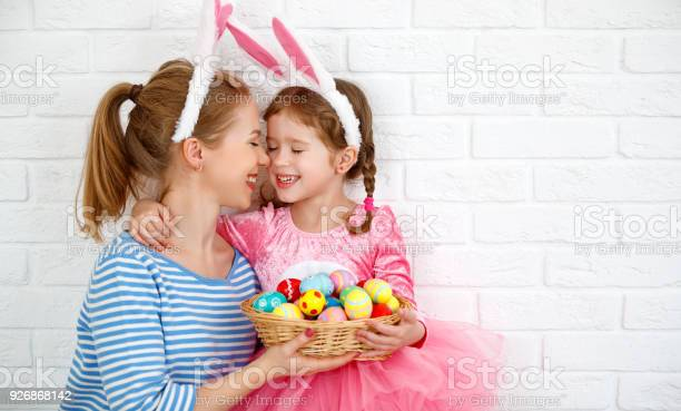 Happy easter family mother and child daughter with ears hare getting picture id926868142?b=1&k=6&m=926868142&s=612x612&h=ftm1xwo9i psggm4sxzztwj2obevxy6bp2drha59rba=