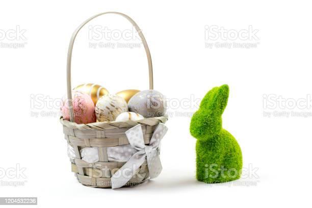 Happy easter golden shine decorated eggs in basket isolated on white picture id1204532236?b=1&k=6&m=1204532236&s=612x612&h=fcnbaronaq7yy5yqmggreqs0xmxaxrq2da0jpsq4dkc=