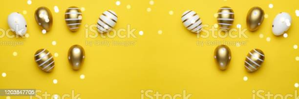 Happy easter golden shine decorated eggs in basket isolated on yellow picture id1203847705?b=1&k=6&m=1203847705&s=612x612&h=znb2zqjmns88q i7lcspixwu k1sptfgsporeljtvig=