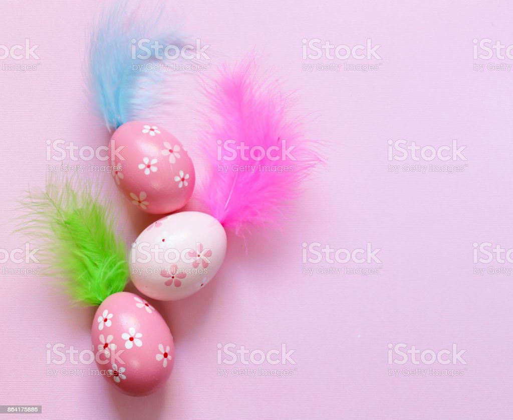 Happy Easter holiday! Decorative colorful eggs, symbol of a spring event royalty-free stock photo