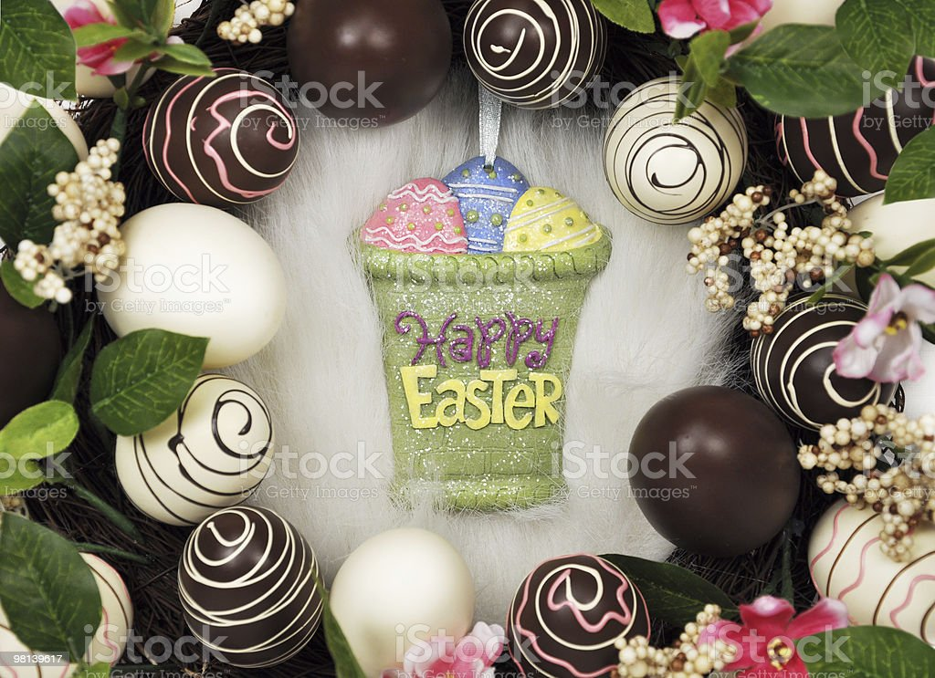 Happy Easter Message royalty-free stock photo