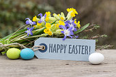English greeting card for Easter