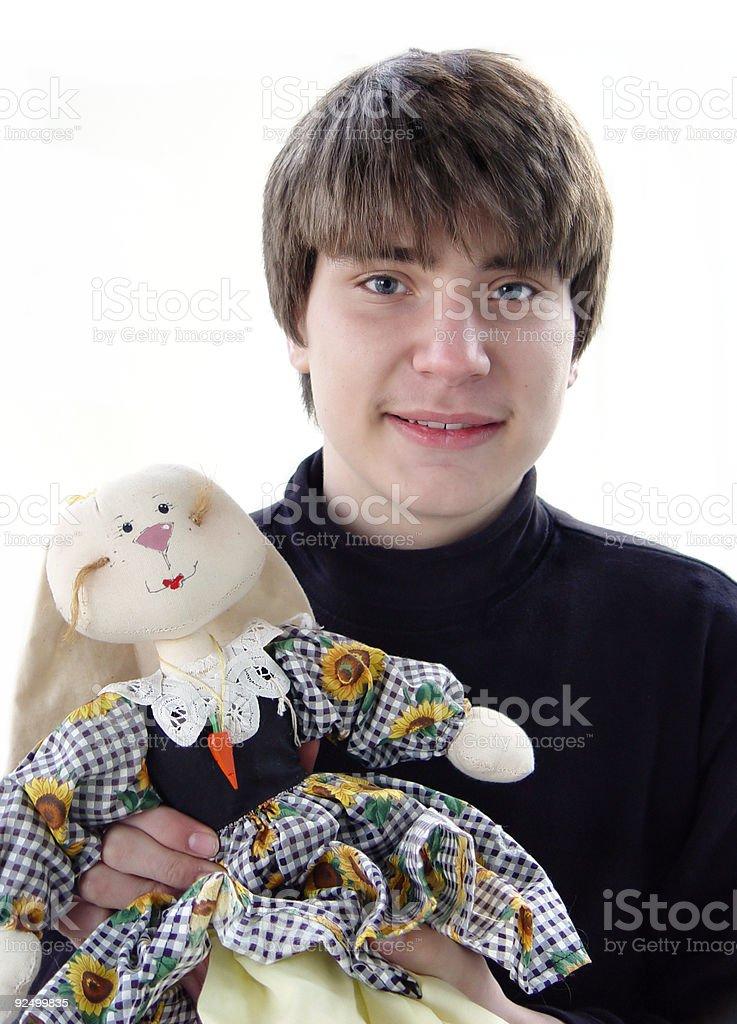 Happy Easter Teen Boy royalty-free stock photo