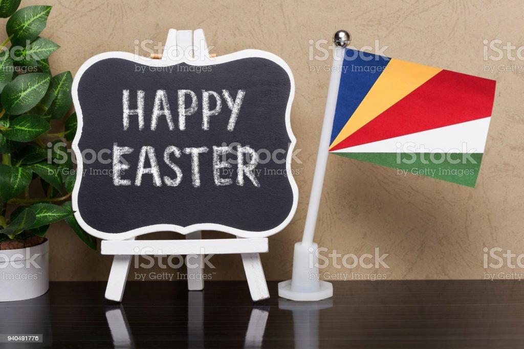 Happy Easter,Seychelles stock photo