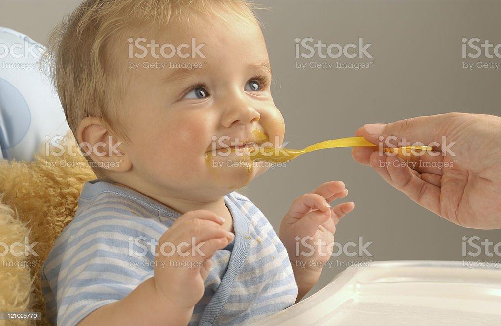Happy eater stock photo