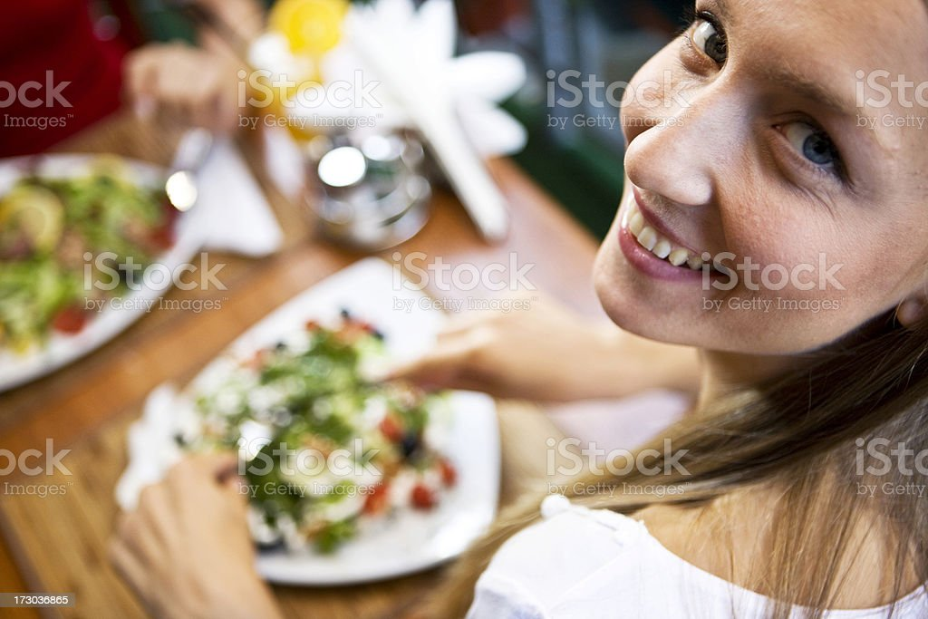 Happy eating royalty-free stock photo