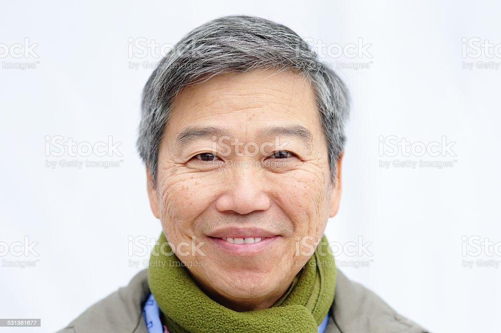 Glücklich Älterer Mann – Foto