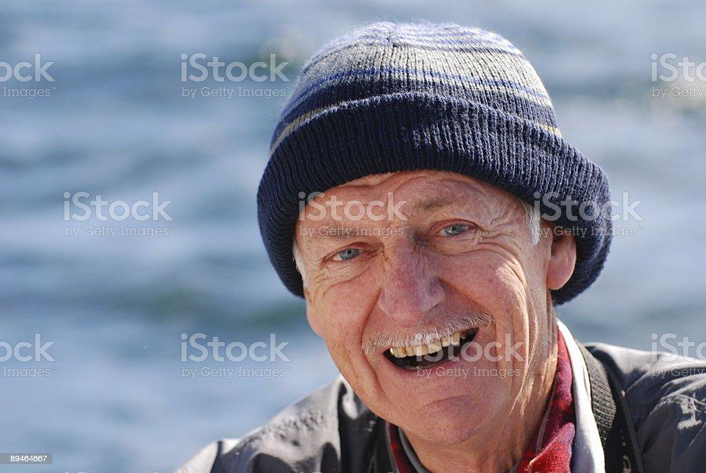 Happy elderly man royalty-free stock photo