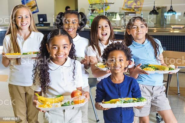 Happy elementary school girls in uniforms holding lunch trays picture id498816281?b=1&k=6&m=498816281&s=612x612&h=jxee4vbn4dla53v9yb2zmm dyw4uve54wsmyrgjbtmy=