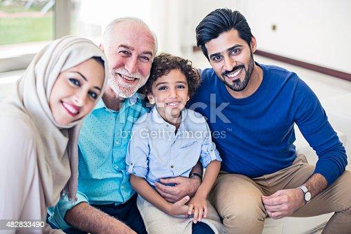 istock Happy Emirati Family 482833490