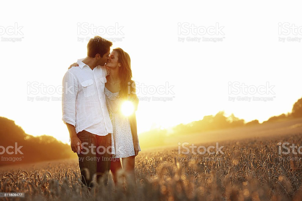 Happy ending to the day stock photo