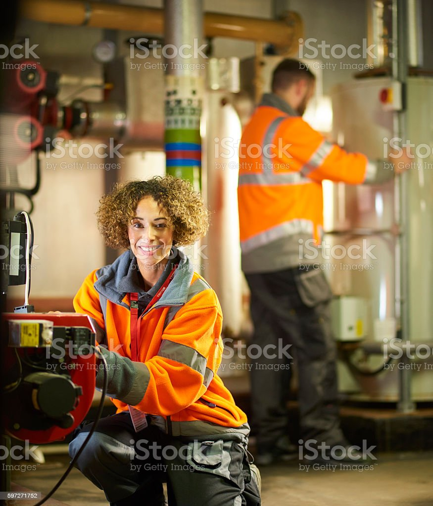 Happy engineer royalty-free stock photo