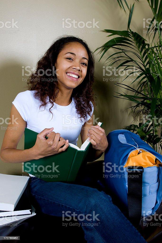 Happy Ethnic Female Student royalty-free stock photo
