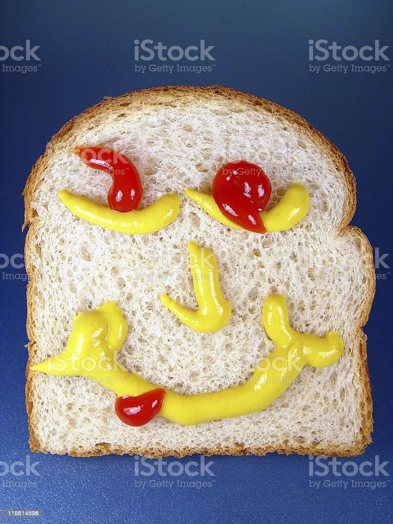 Happy Face Bread stock photo