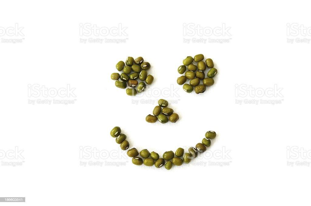 Glückliches Gesicht Getreide – Foto