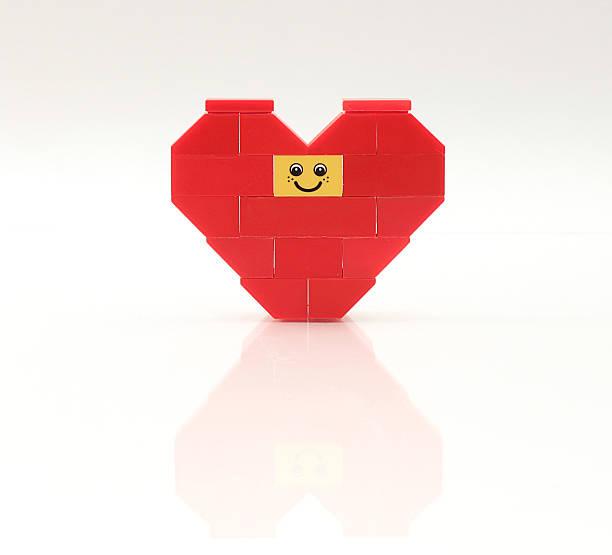 Happy Face Heart stock photo