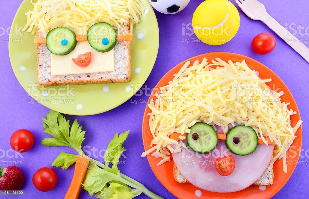 Happy Face Kids Sandwiches – Foto