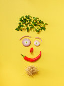 istock Happy face made of organic ingredients 914070622