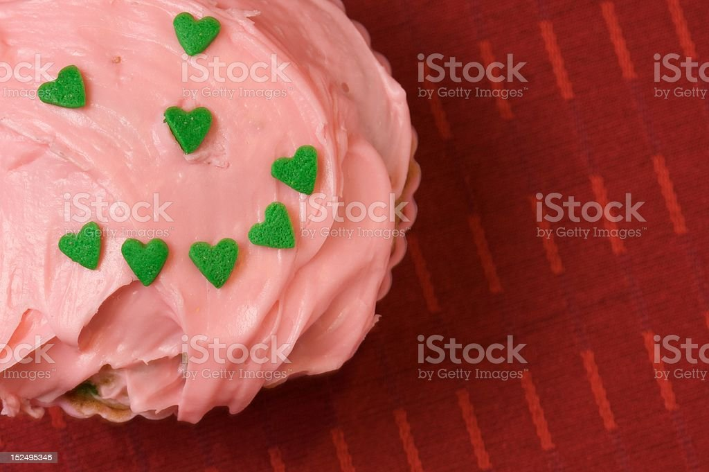 Happy Face on Cupcake royalty-free stock photo