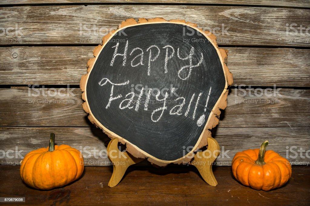 Happy Fall Sign stock photo