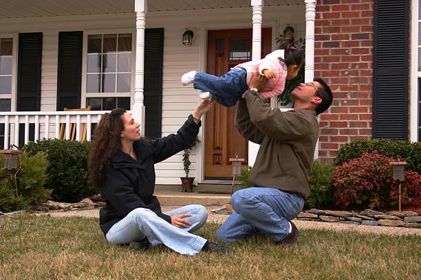 Happy Family 5 stock photo