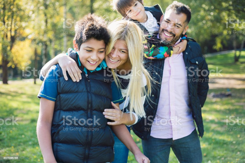 Happy family always together royalty-free stock photo